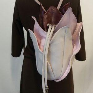 Designer Leather Backpacks Women. Lotus Beige 1 by Diana Ulanova. Buy on women-bags.com