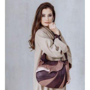 Shoulder Bag Designer. Autumn Legend Beige/Black by Diana Ulanova. Buy on women-bags.com