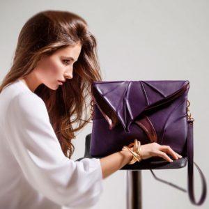 Designer Over Shoulder Bags. Leaf Maxi 5 by Diana Ulanova. Buy on women-bags.com