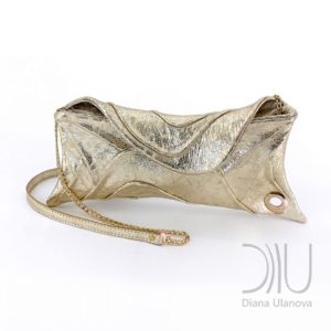 Clutch Bags Designer. Scroll Light Gold by Diana Ulanova. Buy on women-bags.com