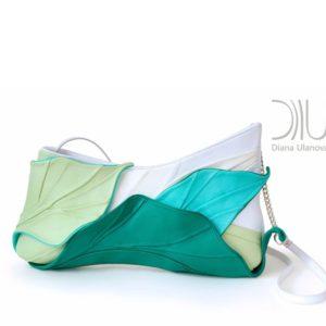Clutch Bag Designer Sale. Tropic White/Green by Diana Ulanova. Buy on women-bags.com