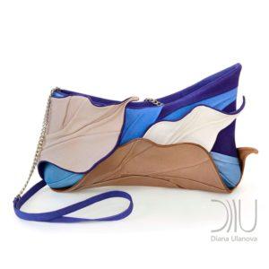 Designer Evening Bags Clutches. Tropic Blue/Beige by Diana Ulanova. Buy on women-bags.com
