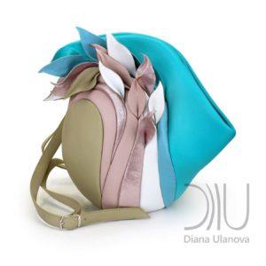Backpacks Designer Sale. Savanna Aquamarine/Beige by Diana Ulanova. Buy on women-bags.com