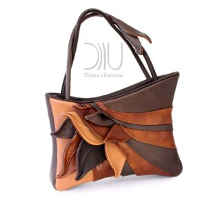 Ladies Designers Handbags. Feathers Brown/Brown Light by Diana Ulanova. Buy on women-bags.com