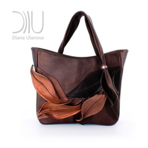 Ladies Designer Handbags. Bamboo Brown by Diana Ulanova. Buy on women-bags.com