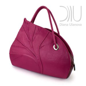 Designer Womens Handbag. Birch Leaf Burgundy by Diana Ulanova. Buy on women-bags.com
