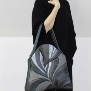 Womens Luxury Handbags. Feather Maxi Black/Silver by Diana Ulanova. Buy on women-bags.com