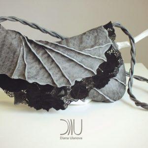 Designer Clutch Bags For Sale. Filigree Clutch Grey 1 by Diana Ulanova. Buy on women-bags.com