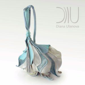 Designer Over The Shoulder Bags. Fleur De Lys - Blue/Silver by Diana Ulanova. Buy on women-bags.com