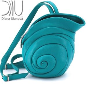 Backpacks For Women Designer. Escargot Blue/Green by Diana Ulanova. Buy on women-bags.com