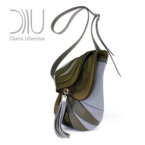 Designer Shoulder Bags. Jockey Gray/Green 1 by Diana Ulanova. Buy on women-bags.com