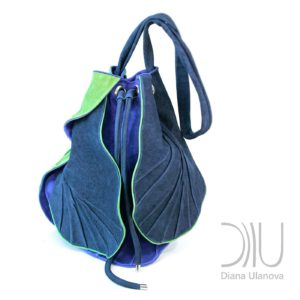 Designer Backpacks Women's. Tulip Blue/Green by Diana Ulanova. Buy on women-bags.com