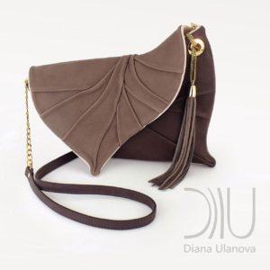 Luxury Clutch Bags. Leaf Drop Brown by Diana Ulanova. Buy on women-bags.com