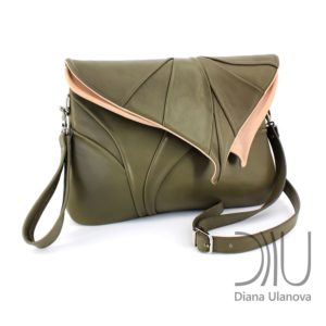 Shoulder Bags Designer. Leaf Maxi Grass Green by Diana Ulanova. Buy on women-bags.com