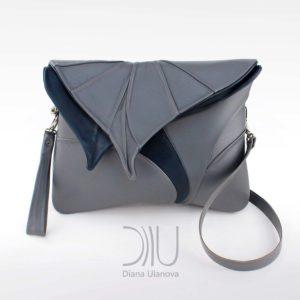 Designer Shoulder Bags. Leaf Maxi Grey by Diana Ulanova. Buy on women-bags.com