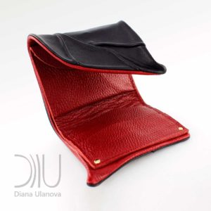 Designer Purse. Leaf Wallet Black-Red by Diana Ulanova. Buy on women-bags.com