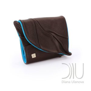 Women's Designer Purse. Leaf Wallet Brown/Blue by Diana Ulanova. Buy on women-bags.com