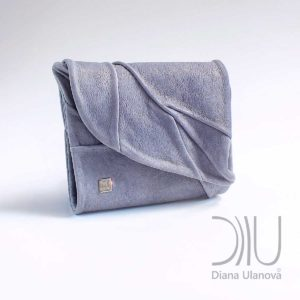 Purse Designer Sale. Leaf Wallet Grey-Blue by Diana Ulanova. Buy on women-bags.com
