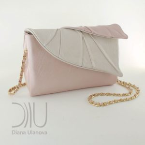 Designer Clutch Bag. Leaves Clutch Beige 3 by Diana Ulanova. Buy on women-bags.com