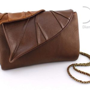 Designer Clutch Bags. Leaves Clutch Brown by Diana Ulanova. Buy on women-bags.com