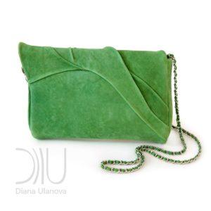 Clutch Bag Designers. Leaves Clutch Green 2 by Diana Ulanova. Buy on women-bags.com