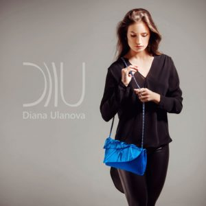 Clutch Bags Designer. Leaves Clutch Light Blue by Diana Ulanova. Buy on women-bags.com