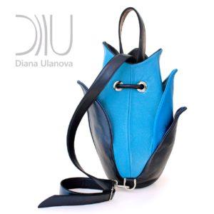 Designer Backpacks For Women. Lotus Blue 2 by Diana Ulanova. Buy on women-bags.com