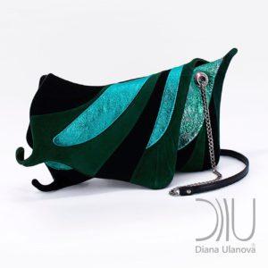 Womens Designer Clutch Bag. Machaon Green 1 by Diana Ulanova. Buy on women-bags.com