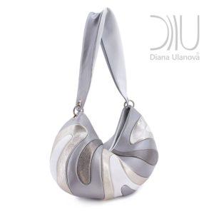 Designer Over The Shoulder Bags. Medusa Grey by Diana Ulanova. Buy on women-bags.com