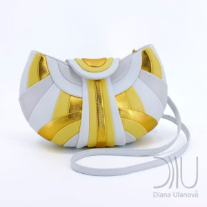 Over The Shoulder Designer Bags. Modern White/Yellow by Diana Ulanova. Buy on women-bags.com