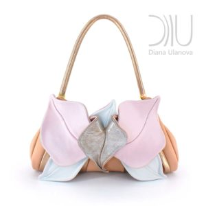 Designer Clutch Bags For Sale. Orchid Clutch Beige/Pink by Diana Ulanova. Buy on women-bags.com