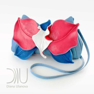 Luxury Clutch Bags. Orchid Clutch Light Blue/Pink by Diana Ulanova. Buy on women-bags.com