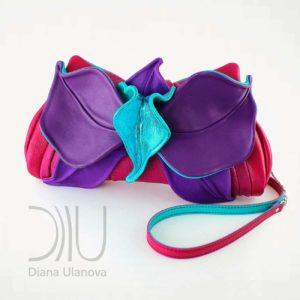 Designer Clutch Bag. Orchid Clutch Pink/Purple by Diana Ulanova. Buy on women-bags.com