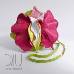 Small Designer Handbags. Orchid Mini Green/Pink by Diana Ulanova. Buy on women-bags.com