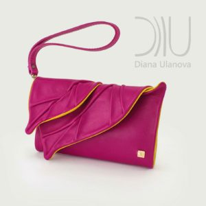 Designer Purses Women. Wallet Leaves Pink/Yellow by Diana Ulanova. Buy on women-bags.com