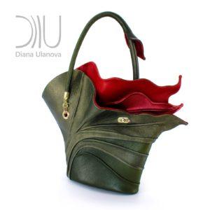 Ladies Designer Bags. Strelitzia Dark Green by Diana Ulanova. Buy on women-bags.com