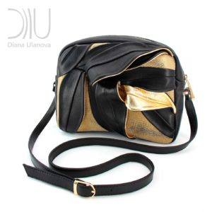 Small Designer Handbags. Bamboo_Mini Black Gold by Diana Ulanova. Buy on women-bags.com