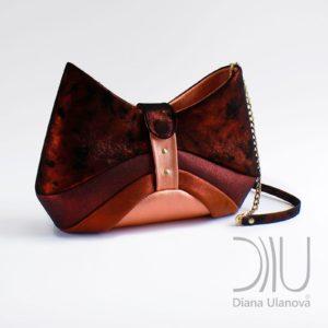 Designer Over Shoulder Bags. Bow Dark Orange by Diana Ulanova. Buy on women-bags.com