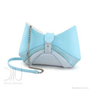 Designer Shoulder Bags For Women. Bow Light Blue by Diana Ulanova. Buy on women-bags.com
