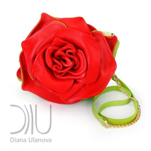Mini Leather Handbags. Rose Mini Grass Green by Diana Ulanova. Buy on women-bags.com