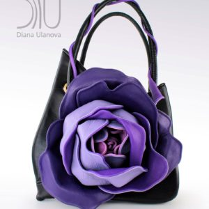 Designer Handbag. Rose Classic Black/Purple 1 by Diana Ulanova. Buy on women-bags.com