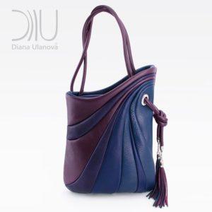 Designer Shoulder Bags. Sputnik Maxi Blue/Purple by Diana Ulanova. Buy on women-bags.com