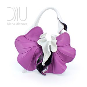 Womens Designer Handbag. Orchid New White/Purple by Diana Ulanova. Buy on women-bags.com