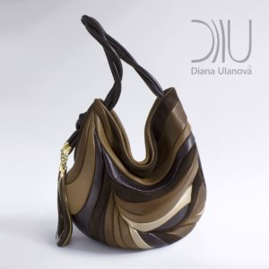 Over The Shoulder Designer Bags. Feather Black/Brown by Diana Ulanova. Buy on women-bags.com