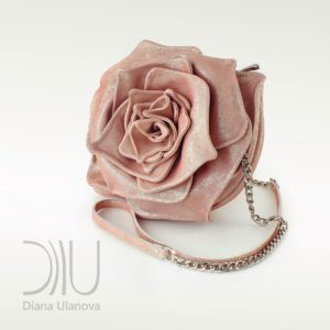 Designer Mini Handbags. Rose Mini Pink Shimmer by Diana Ulanova. Buy on women-bags.com