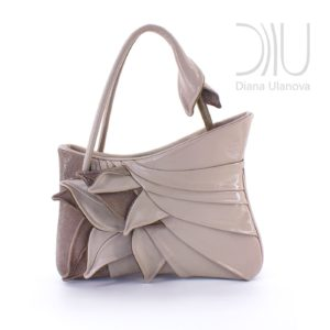 Womens Designer Bag. Feathers Beige by Diana Ulanova. Buy on women-bags.com