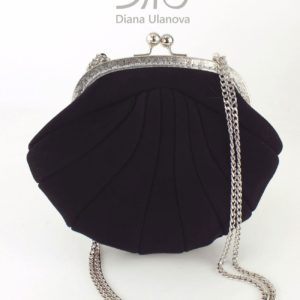 Designer Small Handbags. Reticule Shell Black by Diana Ulanova. Buy on women-bags.com