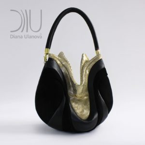 Shoulder Designer Bags. Prana Black/Gold by Diana Ulanova. Buy on women-bags.com