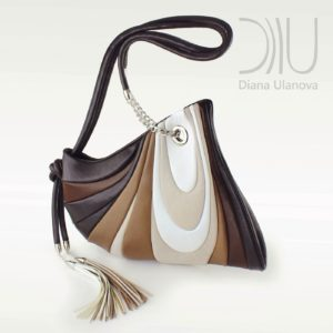 Designer Shoulder Bags On Sale. Mustang Brown/White by Diana Ulanova. Buy on women-bags.com