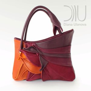 Designers Bags. Feathers Red/Orange by Diana Ulanova. Buy on women-bags.com